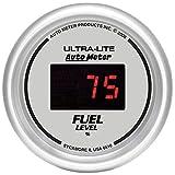 Auto Meter 6510 Ultra-Lite Digital 2-1/16'' 0-280 ohm Digital Fuel Level Programmable Empty - Full Range Gauge