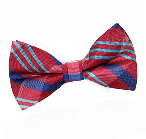Tie Dating Casual Red Bow SKNSM Tie Fashion Ball Party Bowtie Striped Bow Men Sfq8wOR