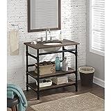 36-inch Industrial Open Shelf Vanity