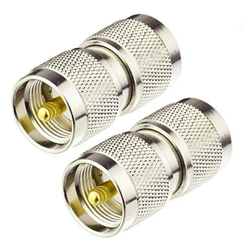 - RF Coaxial Coax Adapter UHF Male to UHF Male PL-259 Connector(2PCS)