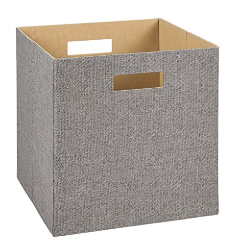 - ClosetMaid 7116 Decorative Fabric Storage Bin, Gray