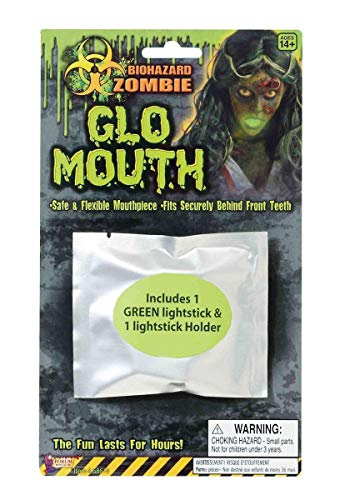 Forum Novelties Party Supplies Biohazard Zombie Mouth Glow Light Up Costume Accessory, One Size -