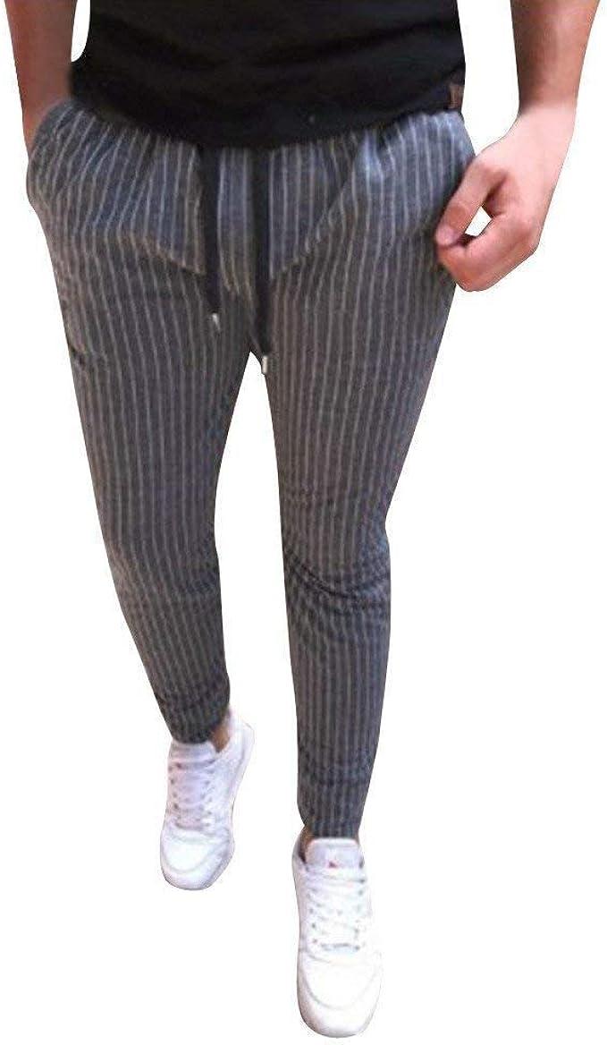 Timagebreze Pantalones De Pies Delgados De Cintura Elástica Con ...