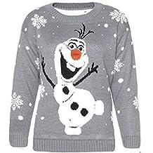 Friendz Trendz -Women Olaf Frozen Christmas Novelty Sweater Xmas Jumper