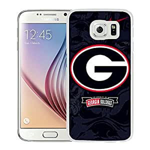 Lovely And Unique Designed Case With georgia bulldogs 01 White For Samsung Galaxy S6 Phone Case