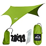 """ATTENTION  If you are looking for a hammock tarp that is ACTUALLY WATER PROOF and not """"water resistant"""" than this is the item for you. Don't buy cheap gear that won't protect you!    BETTER WATERPROOFING/DURABILITY   Our Rain Flies are made with 210..."""