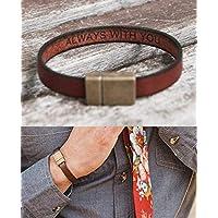 Custom Leather Bracelet Hidden Message Personalized Gift for Boyfriend