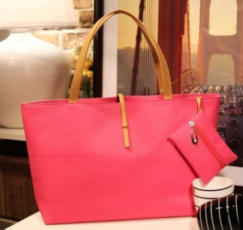 Women PU Leather Tote Shoulder Bags Hobo Handbags Satchel Messenger bag Purse GO, Additional small bag to put your small items or coins in it.(ฺฺRose - Tory Burch Outlet On Sale