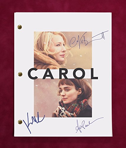 "CAROL MOVIE SCRIPT W/ REPRODUCTION SIGNATURES BLANCHETT, MARA, & PAULSON ""C3"""