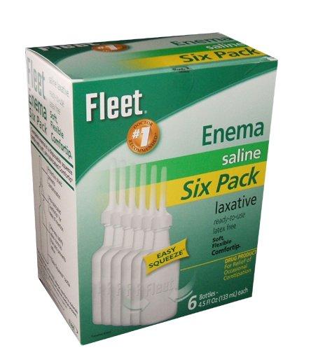 Fleet Enema Saline Ready to Use -(6 Pack)