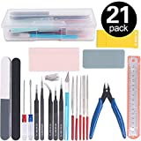 Rustark 21Pcs Modeler Basic Tools Craft Set Hobby Building Tools Kit For Gundam Car Model Building