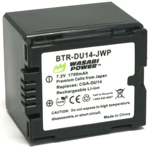 Wasabi Power Battery for Panasonic CGA-DU12, CGA-DU14, VW-VBD120, VW-VBD140 and Panasonic NV-GS10, GS17, GS21, GS22, GS26, GS27, GS28, GS30, GS33, GS35, GS37, GS38, GS40, GS44, GS50, GS55, GS58, GS60, GS65, GS70, GS75, GS78, GS80, GS85, GS100, GS120, GS140, GS150, GS158, GS180, GS188, GS200, GS230, GS250, GS258, GS280, GS300, GS308, GS320, GS328, GS330, GS400, GS408, GS500, GS508, MX500A, PV-GS19, GS29, GS31, GS33, GS34, GS35, GS36, GS39, GS50, GS55, GS59, GS65, GS70, GS75, GS80, GS83, GS85, GS120, GS150, GS180, GS200, GS250, GS300, GS320, GS400, GS500, SDR-H18, H20, H200, H250, H280, H288, VDR-D100, D105, D150, D158, D160, D200, D210, D220, D230, D250, D258, D300, D308, D310, D400, M30, M50, M53, M55, M70, M75, M95 Gs280 Camcorder Battery