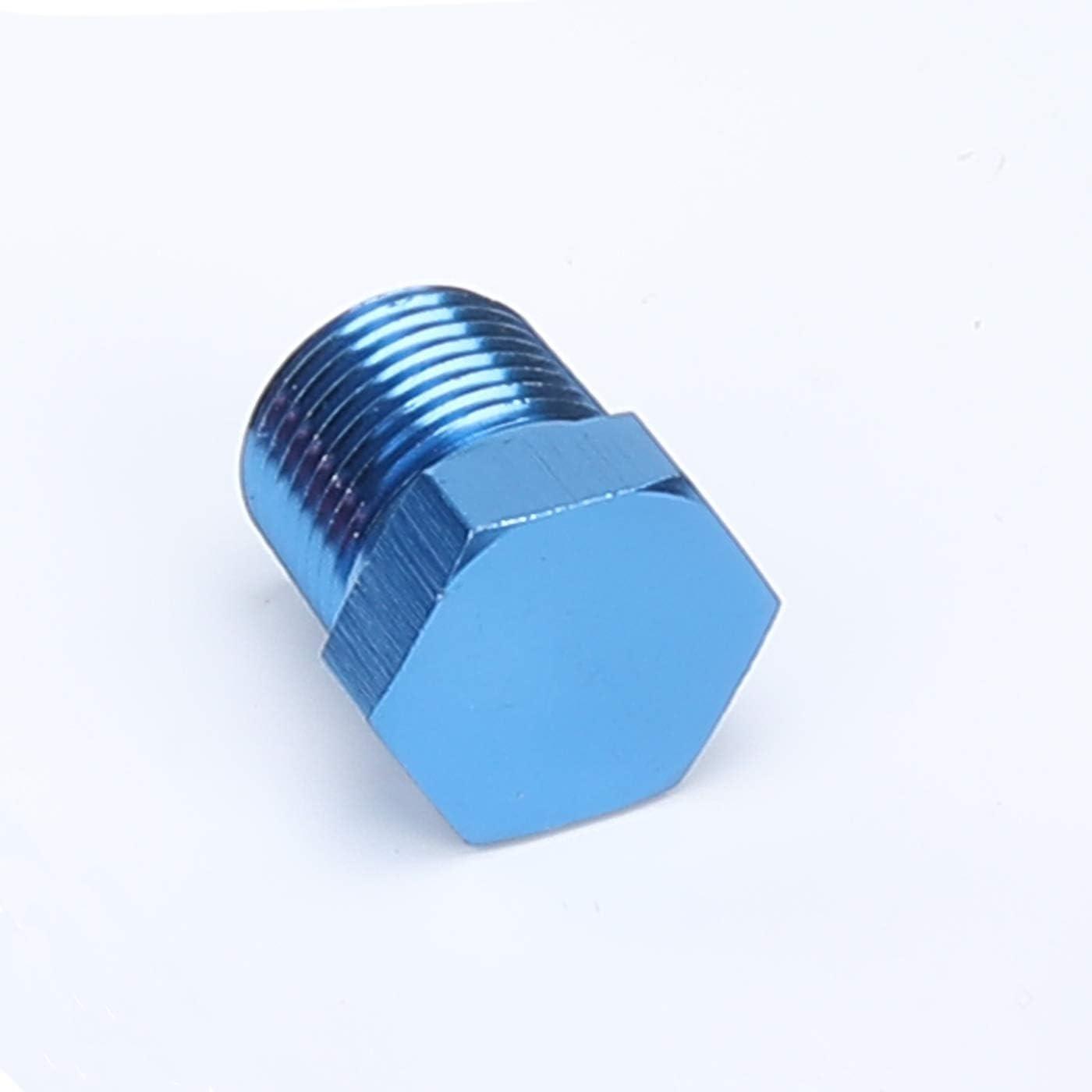 Blue Female 1//8 NPT to AN3 Male Thread Expand Adaptor Aluminum Female 1//8 NPT to 3 AN Male Expander
