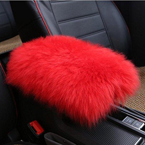 Amiley Car Plush Warm Seat Cushions Armrest Center Consoles Cushion Pillow Pad for Car Motors Auto Vehicle (F)