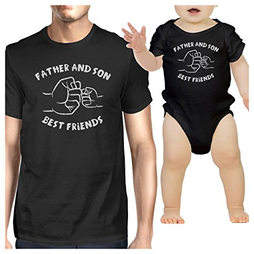 365 Printing Father And Son Best Friends Black Matching Shirts Father's Day Gift (Bodysuit Best Friend Infant)