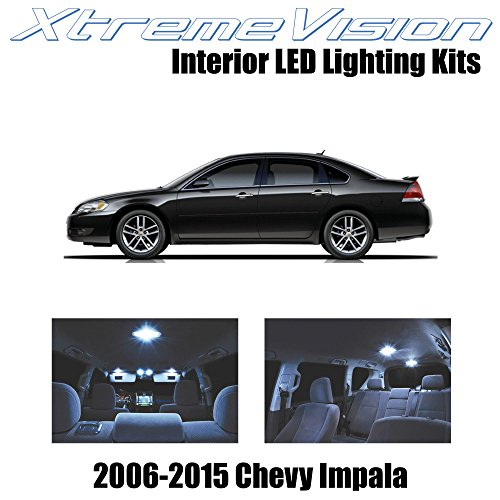 XtremeVision Chevy Impala 2006-2015 (16 Pieces) Cool White Premium Interior LED Kit Package + Installation Tool Tool - White Chevy Impala