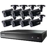 LOREX LHV00161TC8B 16-Channel MPX HD-DVR with 1TB & Eight 720p Security Camera