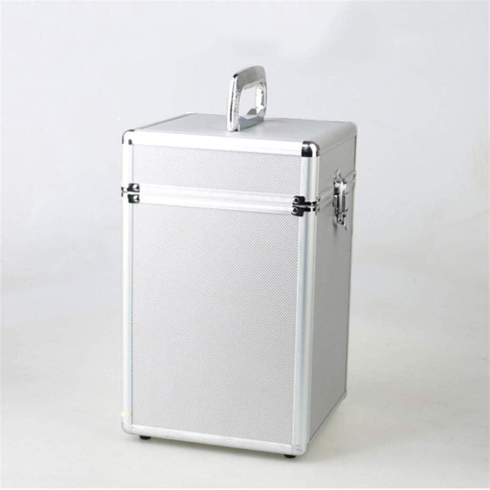 Tool Storage Box Portable Large-Capacity Aluminum Alloy Frame Tool Box Equipment Camera Box Modification Instrument Shock Case Tool Box (Color : Silver) Silver