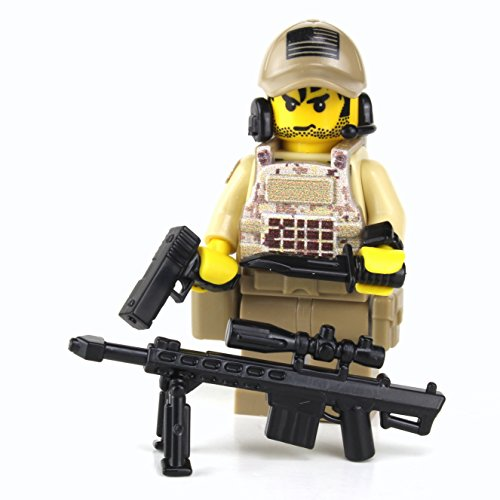 Battle Brick US Army Special Forces Sniper Camouflage (SKU7) Custom Minifigure