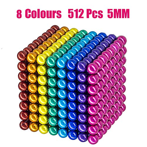 - Coolpay 8 Colors 512 Pcs 5MM Big Magnets DIY Toys Magnetic Fidget Blocks Building Blocks for Development of Intelligence Learning and Stress Relief Gift for Adults or Kids