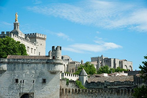 - Low Angle View of City Walls, Pont Saint-Benezet, Rhone River, Avignon, Vaucluse, Provence-Alpes-Cote d'Azur, France by Panoramic Images Art Print, 33 x 22 inches