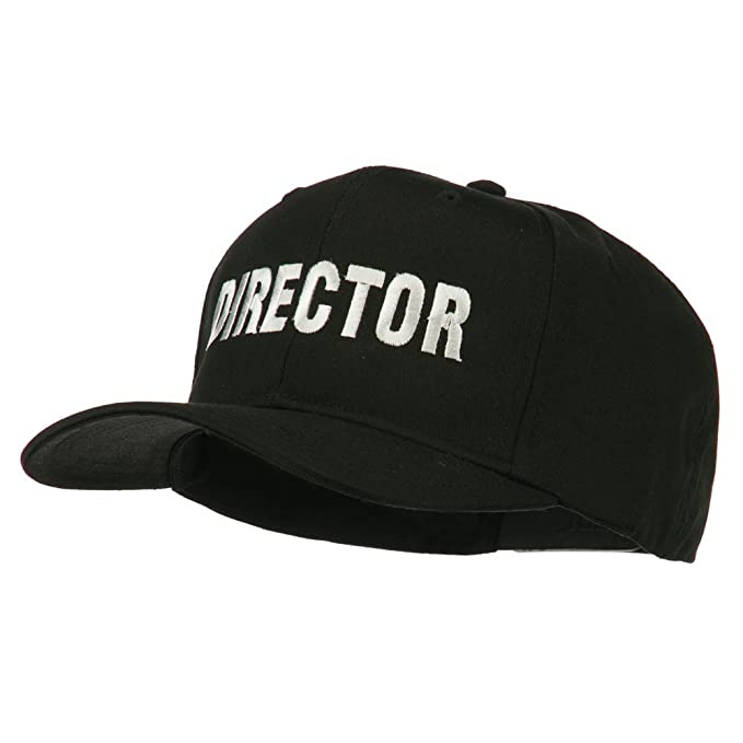 new style 0cd15 bc779 ... switzerland director embroidered cotton twill cap black osfm 3942d 76139