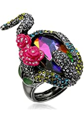 Betsey Johnson Pave Snake Wrap Faceted Stone Ring, Size 7