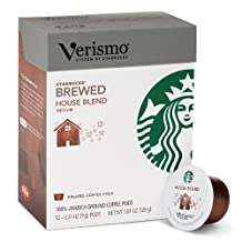 Starbucks Verismo House Blend Coffee Pods, 12 Pods