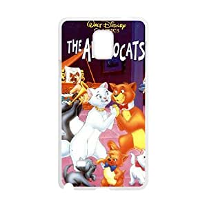 Samsung Galaxy Note 4 Cell Phone Case Covers White AristoCats NRI5124873
