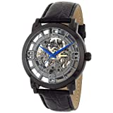 Stuhrling Original Men's 165B.335569 Classic Winchester Grand Stainless Steel and Leather Skeleton Watch