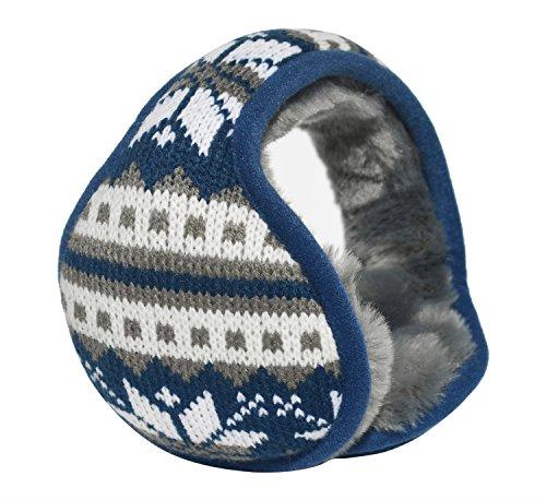 Mraw- Adjustable Winter Earmuff- Back Worn Ear Warmer- Snowflake Pattern- Foldable for Pockets | Bags-For Skiing | Skating | Climbing | Running- 1 Pcs