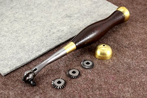 Vergez Blanchard Pricking/Marking Marker with Pricking Wheel Set (7,8,10,12tpi). Leather Marker