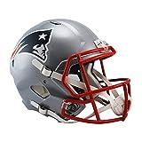 NFL New England Patriots Riddell Full Size Replica Speed Helmet, Medium, Red