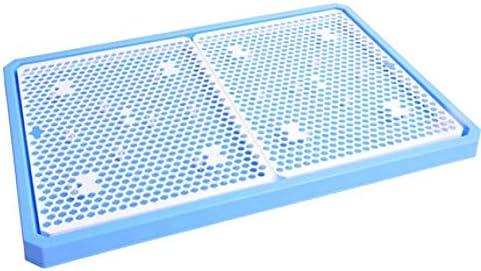 家庭用犬トイレペットトイレ、プラスチックトレイ付き、PP樹脂ペットトレーニングマット、床の掃除が簡単