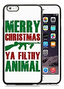 Provide Personalized Customized iPhone 6 Plus Case,Merry Christmas Black iPhone 6 Plus 5.5 TPU Case 20