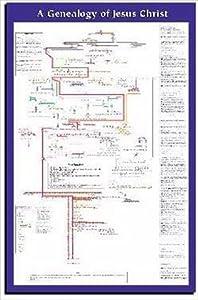 Amazon Com Genealogy Of Jesus Laminated Wall Chart