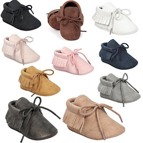 Zapatos de bebé, Switchali zapatos bebe niña Princesa verano Recién nacido Niñas Cuna Suela blanda Antideslizante Zapatillas Bebé niño borla vestir casual Gris