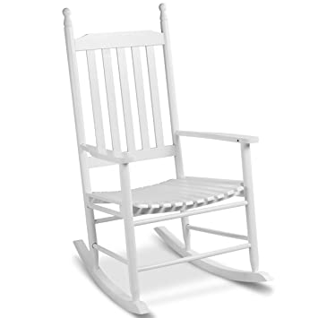 Schaukelstuhl Holz Schwingsessel Schaukelsessel Relaxstuhl Garten Stuhl Sessel