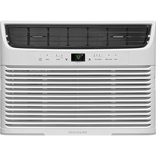 (FRIGIDAIRE FFRA1222U1-12,000 BTU 115V Window-Mounted Compact Remote Control Air Conditioner, White)
