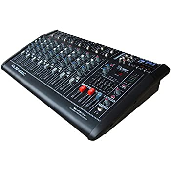 10 channel professional 4000 watts powered mixer with usb sd slot 16 dsp digital. Black Bedroom Furniture Sets. Home Design Ideas