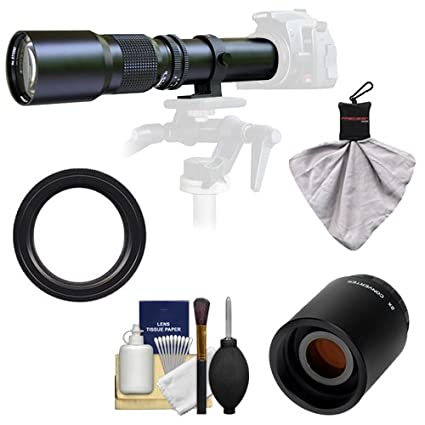 =1000mm T5 7D + Tripod 3 Filters Kit for Canon EOS 6D T6i 70D T3i T5i 5D Rebel T3 T6s SL1 Cameras Vivitar 500mm f//8.0 Telephoto Lens with 2X Teleconverter 5DS