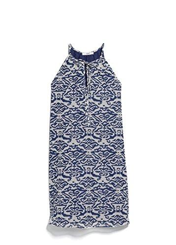 Mango Women's Textured Printed Dress, Indigo Blue, 6