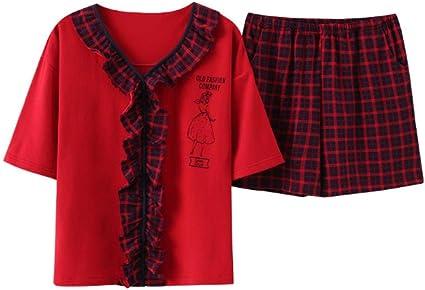 Pijamas para Mujer, Conjuntos De Pijamas De Algodón para Mujer ...