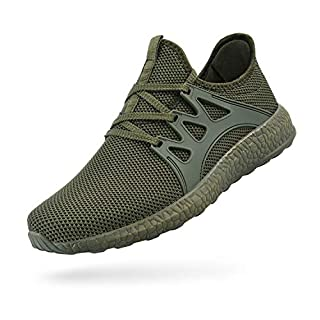 Feetmat Womens Slip On Shoes Ultra Lightweight Breathable Mesh Athletic Walking Running Sneakers Green 8
