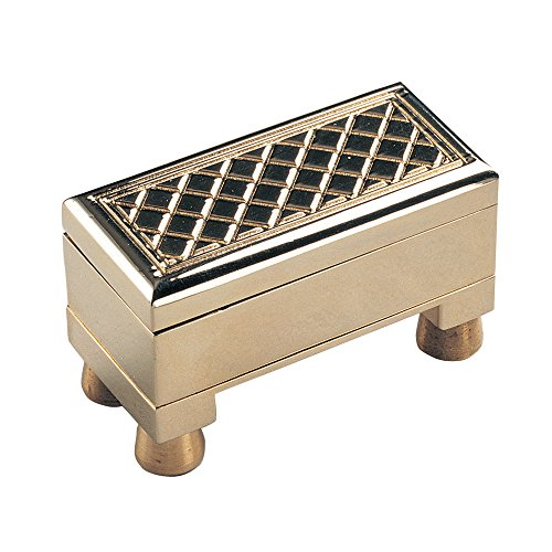 Price comparison product image Bits and Pieces - Brass Treasure Chest - Brainteaser Puzzle Box - Includes Compartment for Small Treasures