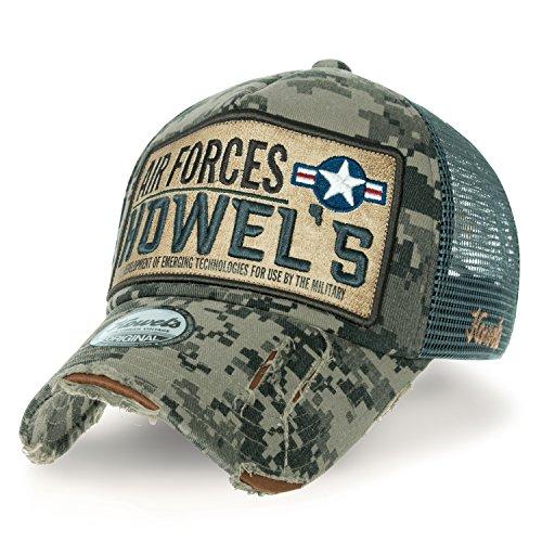 Camouflage Jungle Cap Baseball Hat Howels Mesh Air Forces Green ililily Distressed Trucker C45Tnq