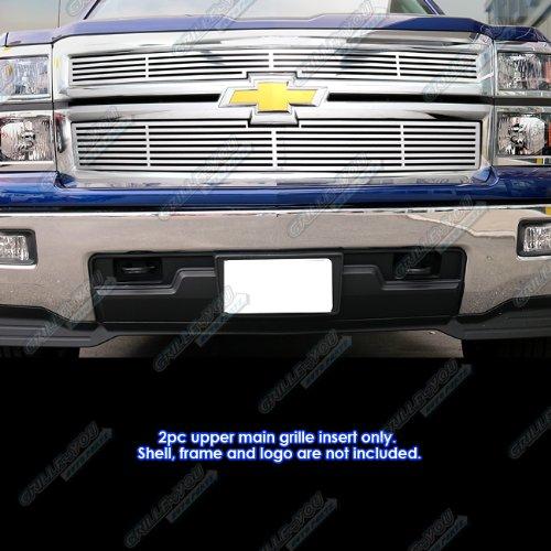 Fits 2014-2015 Chevy Silverado 1500 Regular Model Perimeter Billet Grille Inserts