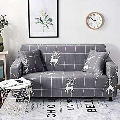 Amazon.com: MINS FAA Sofa Cover Slipcover Knitted Couch ...