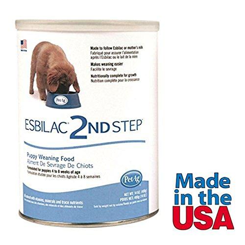 Puppy Milk Replacer Powder Puppy Weaning Food Made in USA 14 oz (Esbilac Puppy Milk Replacer Powder)