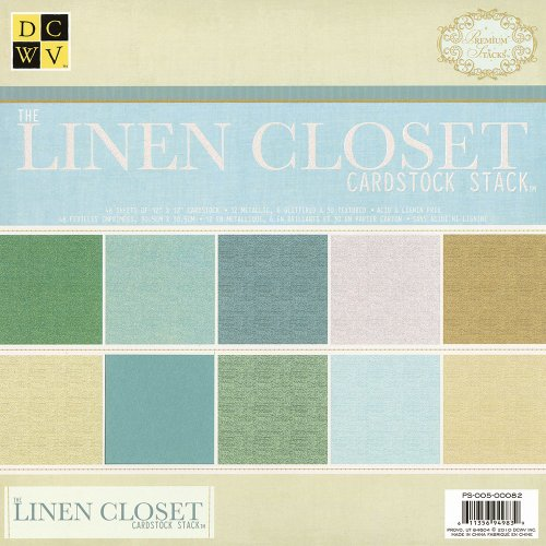 DCWV PS-005-00082 12 by 12 Linen Solid Stack (Cardstock Textured)